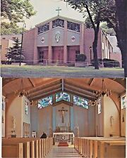 Chapel at National Shrine of Our Lady of Lourdes in Euclid, Ohio - 2 Postcards