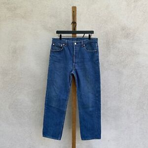 Vintage Late 80s - 90s Levi's 501 Red Tab Denim Jeans MADE IN USA Fits 33 x 29