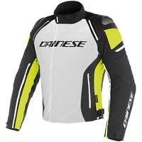 Dainese Men's Racing D-3 D-Dry Jacket Glacier Grey Black Fluo Yellow  Size 50 EU