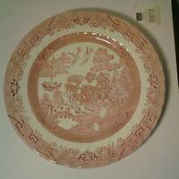 "RARE Churchill WILLOW ROSA (PINK) 12 1/2""  Scalloped Edge Chop Plate EUC"
