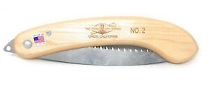 Fanno #2 Folding Hand Saw for Pruning 10.5 inch Blade Hardwood Handle U.S.A.