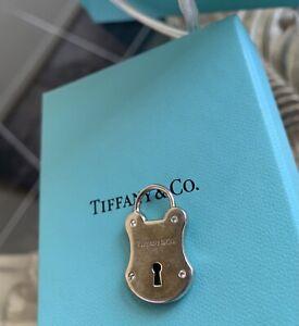 Diamond Tiffany & Co. Lock Key Charm Silver And