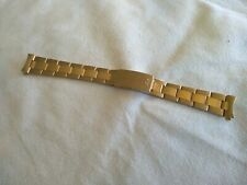 PHILIP WATCH VINTAGE WATCH BRACELET GOLD FILLED STRAP BRACCIALE 17mm NOS!