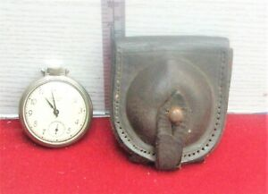 Vintage Westclox Pocket Ben Watch Working with pouch Made In Canada Rare