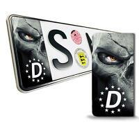 2x Vinyl Aufkleber Nummernschild Kennzeichen Stickers EU Totenkopf Schädel QV 12