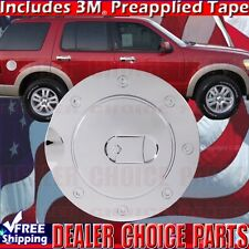 2002-2010 EXPLORER Chrome ABS Gas Door Cover Trim Overlay Fuel Cap 4 Door