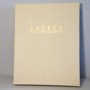"""LAUREN RALPH LAUREN Beige W/Gold Lettering Gift Box. 14.5""""x11.5""""x2.25"""". NEW."""