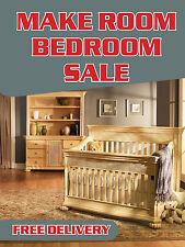 "Make Room Bedroom Sale Furniture Retail Display Sign, 18""w x 24""h, Full Color"