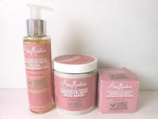 3 SHEA MOISTURE PEACE ROSE OIL COMPLEX PRODUCTS~ MUD MASK, MOIST & CLEANSING OIL