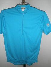 Men's Canari 1/2 Zip Softec Polyester/Cotton Cycling Jersey Capri Blue Sz Medium
