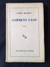 COMMENT C'EST *FIRST EDITION SIGNED BY SAMUEL BECKETT*