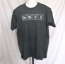 Men's Chemistry Periodic Table Genius Ge Ni U S NEW T Shirt Size Large NWT