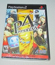 Shin Megami Tensei Persona 4 With Bonus Disc Playstation 2 PS2 Factory Sealed