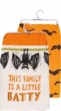 "New!~Tea Towel~This Family Is A Little Batty~Halloween Bat~28""~Hand/Kitchen /Dish"