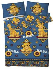 New Disney The Lion King Double Duvet Quilt Cover Set Boys Kids Children Blue
