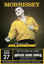 MORRISSEY / BLONDIE 2015 NEW YORK CONCERT TOUR POSTER-The Smiths, New Wave Music
