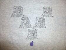 Vtg APPLE COMPUTERS Gray T-Shirt Men's XL Steve Jobs Stumps Funny Cool RARE