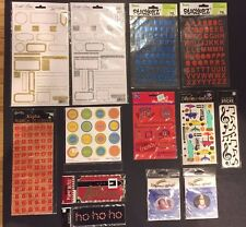 Lot of 13  Stickers  Sets & Memory MelodiesNEW for Scrapbooks & Cards/Crafts