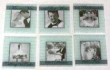 Set of 6 New WEDDING THEME GLASS PHOTO COASTERS in WOODEN HOLDER - GIFT ITEM NIB