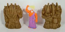 """1997 Zeus & Rock Titan 4"""" McDonald's Action Figure Toy Set #2 Disney Hercules"""