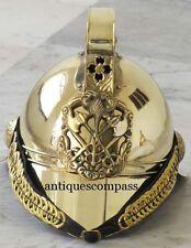 Collectible Brass Victorian Fireman Fire Brigade Officer Helmet Wearable Helmet