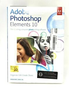 🔥OEM Photoshop Elements 10 PC Windows & Mac OS Photo Editing Software 🔥