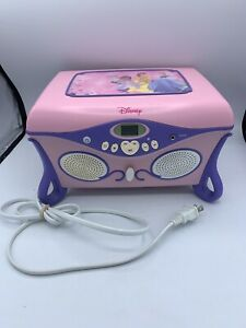 Disney Princess Bell Jukebox CD Player and Jewelry Box Works & Sounds Great