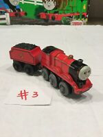 JAMES MOTORIZED~Thomas And Friends Train Wooden Railway Diecast 2002 And Tender