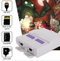 HDMI 821 Built-in 1 Retro Game Console Childhood Games + 2 Controllers US Plug