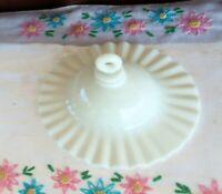 Antique White Milk Glass Smoke Bell Oil Or Kerosene Lamp Part