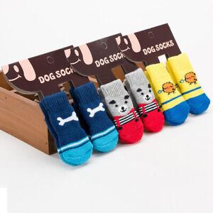 2Pairs Dog Socks Non-Slip Grip Slip Anti-Skid S-XL - Puppy Cat Pet Shoes Slipper