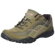Ladies Regatta Size 3 Eur 36 Walking Hiking Low Boots Shoes RRP £70 Khaki Suede