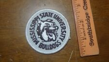 VINTAGE MISSISSIPPI STATE UNIVERSITY BULLDOGS  COLLEGE  FOOTBALL  PATCH BX L#6