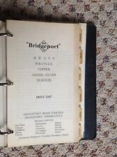 Bridgeport Brass Company 1932 Price List  - in original BB notebook - Vintage