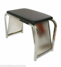 Shoe Fitting Stool With Black Padded Seat and Two Mirrors