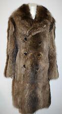 Long Raccoon Stroller Fur Coat M L Beautiful Details Button Front Pockets