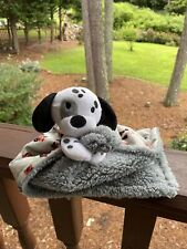 Little Beginnings Plush White Puppy Dog w/ Cars Blanket Security Lovey Baby Toy