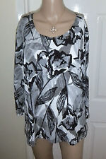 Attitudes by Renee printed jersey top, new UK Large