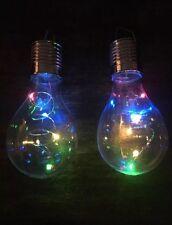 6 LED ENERGIA SOLARE MULTICOLORE DA APPENDERE Lampadine Luci Da Giardino Patio Chiaro