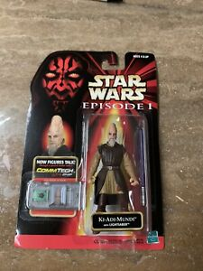 Star Wars Episode 1 Ki Adi Mundi with Lightsaber Carded Hasbro 1998
