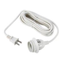 IKEA HEMMA White Cord set Ceiling Pendant Lamp Light Cord Set Bulb Socket