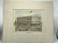 Hotel Clunie Block Sacramento California 1880 Thompson & West Color Print
