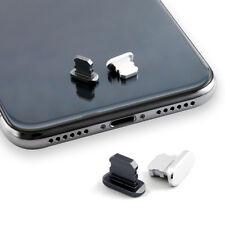 Anti Dust Plug 2 un. negro funda teléfono tapa de puerto del cargador para iPhone 7 8 Xs Max XR