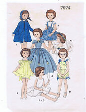 "7974 Slender Vintage Doll Pattern - Size 22"" - Year 1950 Korean War"