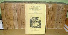 CHATEAUBRIAND OEUVRES COMPLETES CHEZ POURRAT 1836 TOMES 1 à 18 VOYAGES HISTOIRE