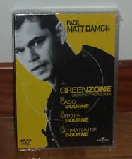 TRILOGIA BOURNE+GREEN ZONE 4 DVD NUEVO PRECINTADO ACCION (SIN ABRIR) R2