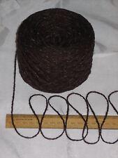 100g Rich Brown Tweed 100% English Wool Double knitting yarn dk 2/4nm British