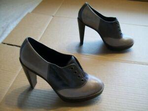 "Cole Haan Womens 6.5B Two Tone Brown Saddle Shoe Heels (4.25"")"
