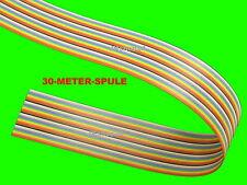 30 m FLACHBANDLEITUNG 40-adrig/polig AWG28 Steuerleitung/DAT-Kabel 1,27mm-Raster