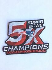 PATRIOTS SUPERBOWL 5X Champions Patch/NFL/  Collectible/ Iron On-FREE Ship USA
